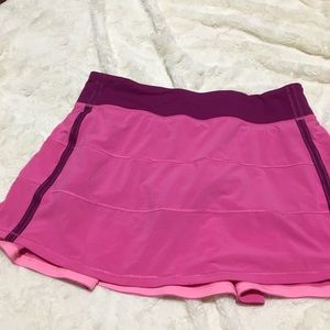 Pink Lululemon Workout Skirt